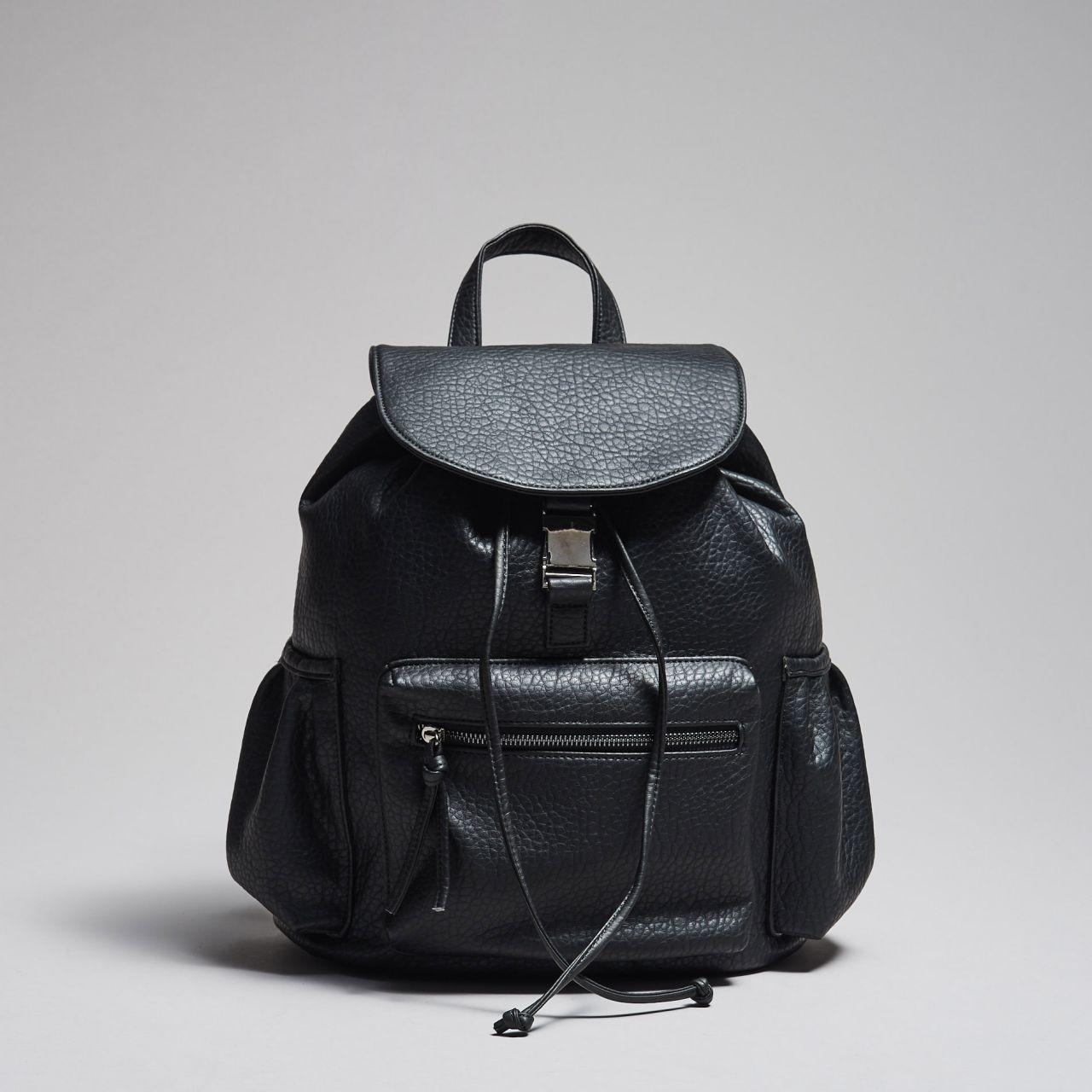 Рюкзак Cropp - Leather Full Black (кожаный\шкіряний)