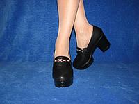 Женские классические туфли на удобном небольшом каблуке эко кожа 35-37