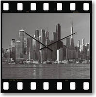 Часы настенные из стекла - Сан Франциско(немецкий механизм)до45-50см