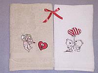Подарочный набор полотенец с вышивкой 2шт Купидончик