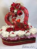 Конфетные подарки сердце