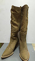 Сапоги кожаные летние на небольшом каблуке Ripicca Vero Cuoio
