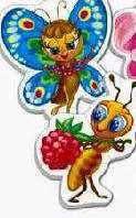 Бебі пазли Мини: 1107-01 (2шт.) метелик/мурашка (Vladi Toys)