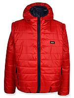 Куртка - жилетка на подростка,красная, р.146,152