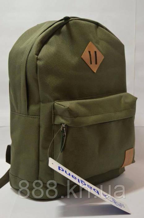 Городской рюкзак BagLand, школьный портфель, прочный и стильный рюкзак зеленый