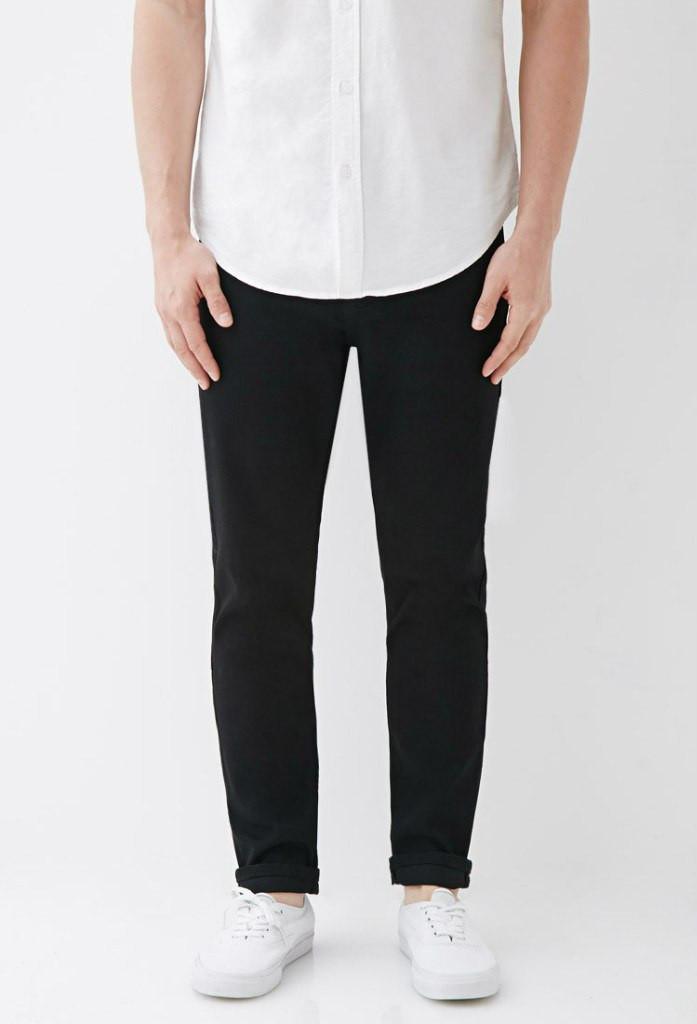 Штани Forever 21 Man - Classic Skinny Black (мужские черные штаны брюки  чинос) - f49b5faafc5ae