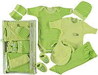 Комплект одежды подарочный для новорожденного в роддом на выпискy салатовый  Склад 2