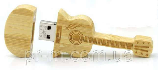 Флешка гитара  дерево 16 Гб, фото 1