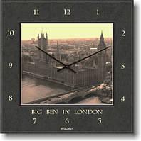 Часы настенные из стекла - Биг Бен(немецкий механизм)