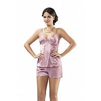 Атласная пижама женская с шортами