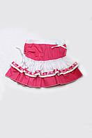 Летняя юбка для девочки розовая (хлопок), легкая , летняя юбка