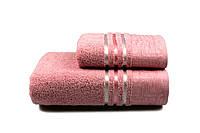 Полотенце махровое Perseus 70х140 розовое 480 г/м²