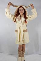 Женский стильный набор халат + сапожки  Зайка