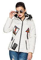 Стильная женская куртка Линда (белый)