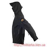 Куртка Softshell Chameleon с капюшоном black, фото 4