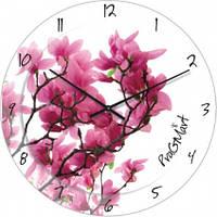 Часы настенные из стекла - Сакура(немецкий механизм)