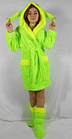 Женский стильный набор халат + сапожки