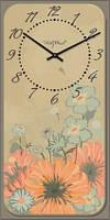 Часы настенные из стекла -цветы(немецкий механизм)