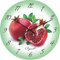 Часы настенные из стекла - гранат(немецкий механизм)