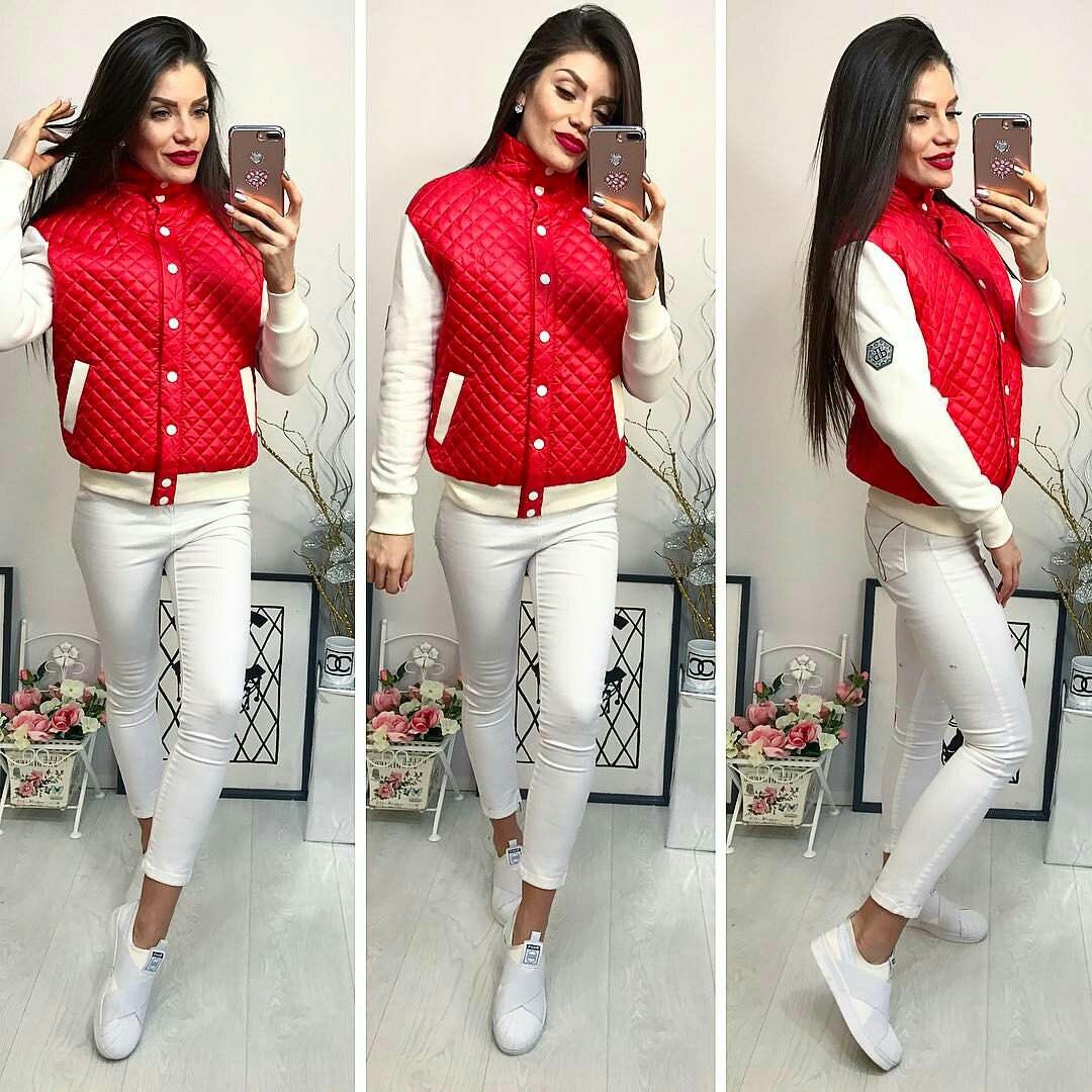 Куртка женская, модель 773, красная