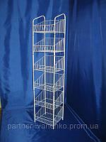 Стеллаж сетчатый универсальный торговый и бытовой на 6 полок 60 см, фото 1