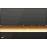 Кнопка управления (черная/золотая), М1728-5, Alcaplast (Чехия)