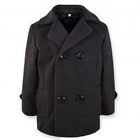 Детское демисезонное пальто на мальчика, серое, р.104