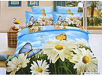 Постільна Білизна Arya Сатин Друковане 3D 1,5 Сп. 160Х220 (Нав. 70Х70) Wıld Flower