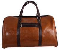 Классная дорожная сумка из кожзаменителя 45 л. 4236 коричневая