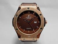 Часы мужские Hublot, наручные часы хублот зол/коричневый