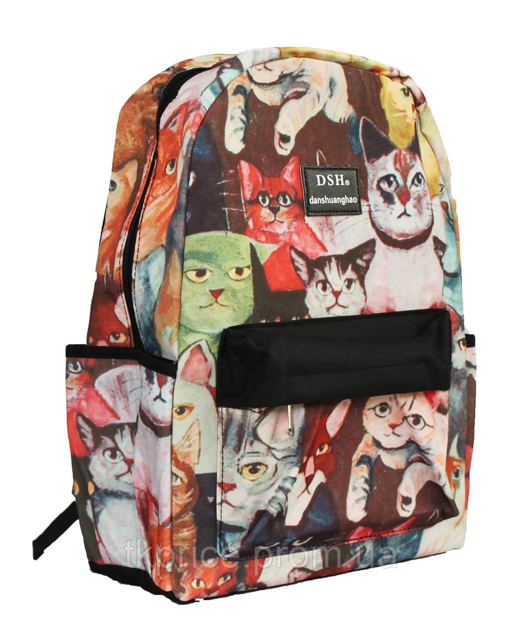 Рюкзак с котами для девочек