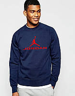 Мужской СВИТШОТ Jordan (Свитер Джордан Темно-синий) Navy-blue 🔥
