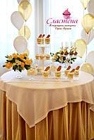 Свадебный Мини Кенди бар (Candy Bar) в золотом цвете