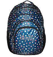 Рюкзак ортопедический лёгкий нейлон синий Dolly 507D
