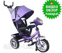 Велосипед Turbo Trike M 3115-8HA фиолетовый детский трехколесный Турбо Трайк с фарой