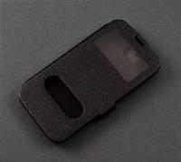 Чехол книжка Huawei Y5c Y541-U02 черный 2 окошка