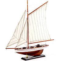 Модель парусной яхты 60 см бело-коричневая 45302-60-E