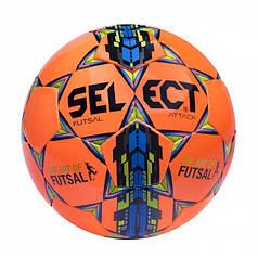 Мяч футзальный №4 SELECT FUTSAL ATTACK(OR) (оранжевый-синий-желтый)