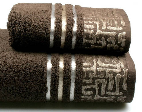 Полотенце махровое Perseus 70х140 коричневое 480 г/м², фото 2