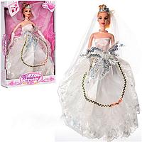 """Кукла """"Невеста"""" 1020А, кукла высотой 29 см, в перчатках, фата, прическа, все как у настоящей невесты"""