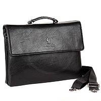 Мужская сумка Bradford 18774-6 черная А4 из искусственной кожи на три отделения 37см х 28см х 7см