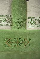 Комплект полотенец Merzuka  4шт 100% cotton махра 2 шт баня + 2 шт для лица Турция