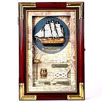 Настенная ключница в стиле морского сувенира Кораблик