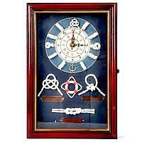 """Настенная ключница с часами """"Морские узлы"""" 3020C"""