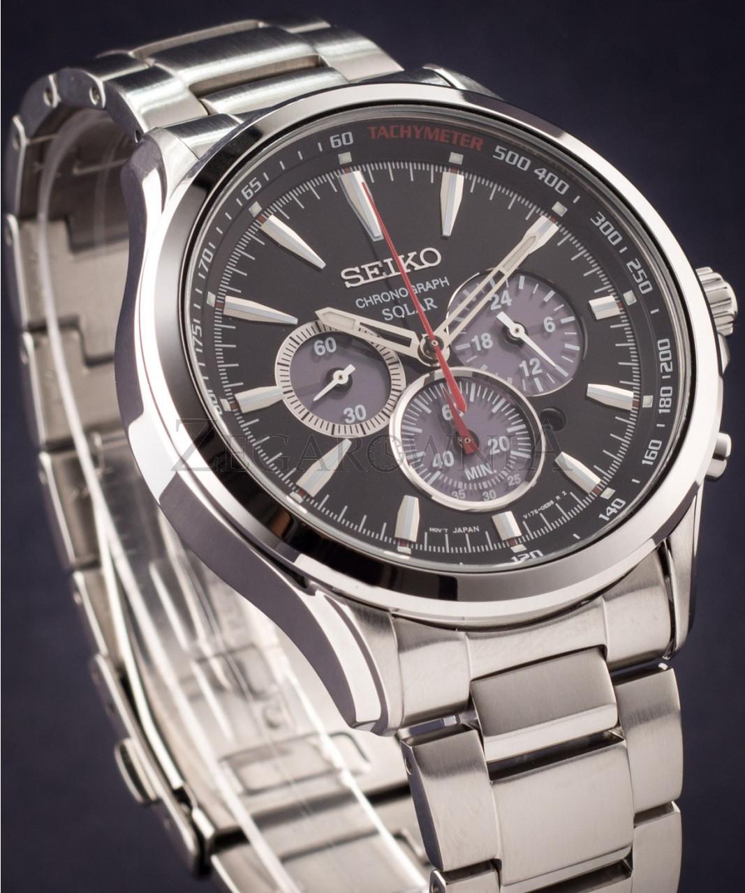 Часы Seiko SSC493P1 хронограф SOLAR V175