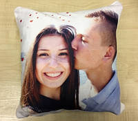 Подушка плюшевая с фото 35 х 35 см