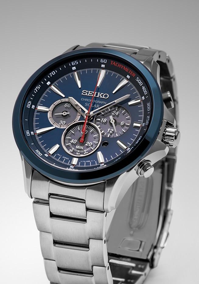 Часы Seiko SSC495P1 хронограф SOLAR V175