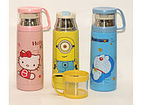 Детский термос с поилкой + чашка 350 мл Т89