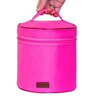 Круглый органайзер для косметики Розовый