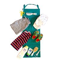 Подвесной органайзер для шкафчика в детский сад зеленый